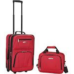 Rockland 2-Piece Wheeled Luggage Set, Red,