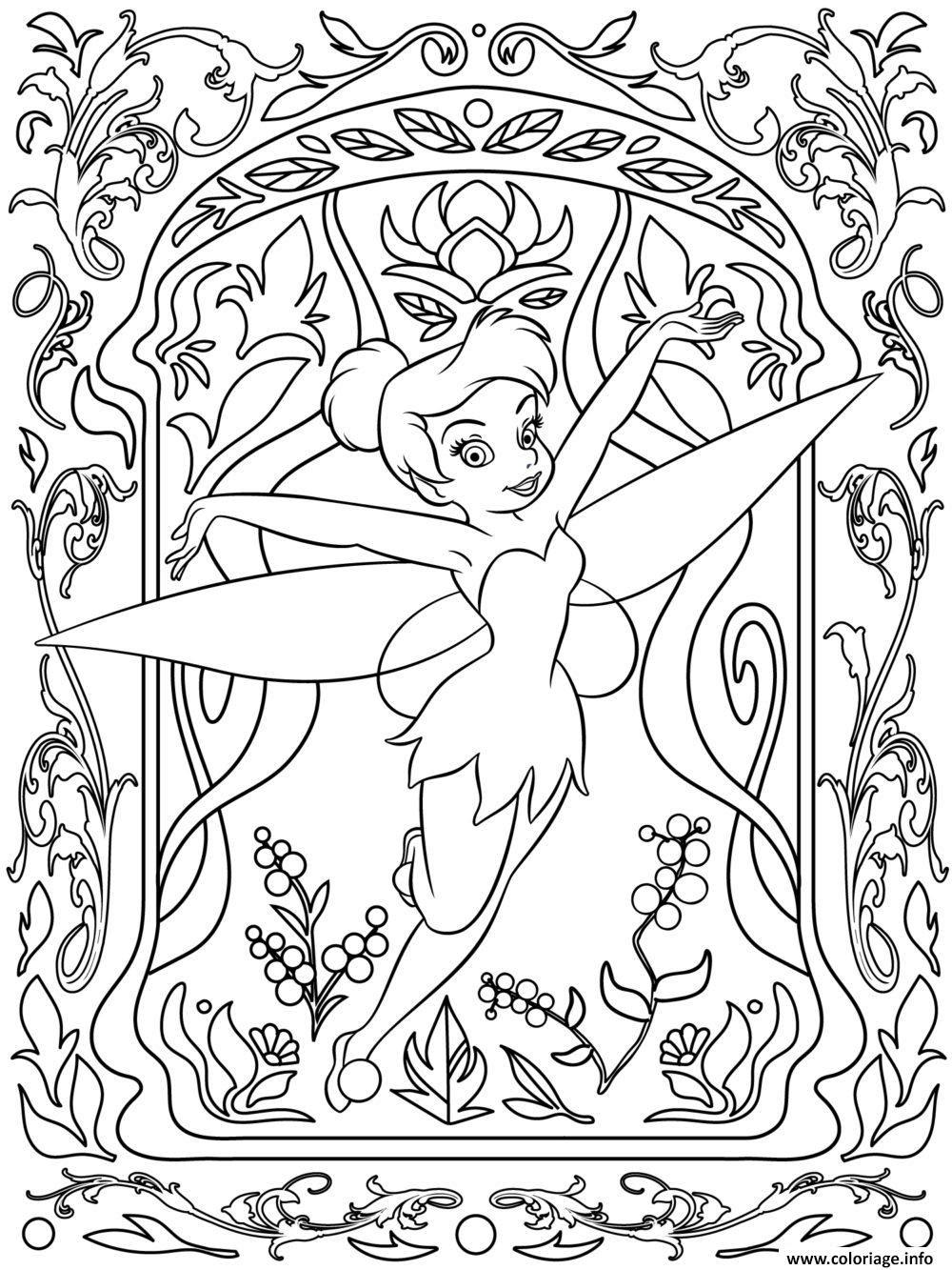 Coloriage Mandala Disney Tinker Bell Dessin  Imprimer