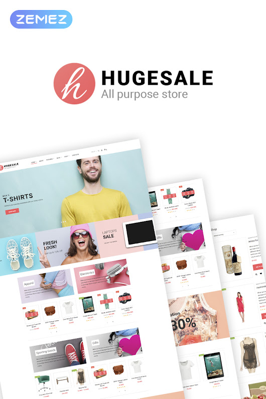Hugesale - Multipurpose Store WooCommerce Theme - w3design.mobi