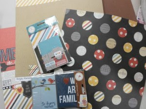 Supplies for The Shoebox Project or Smash by Simple Stories.