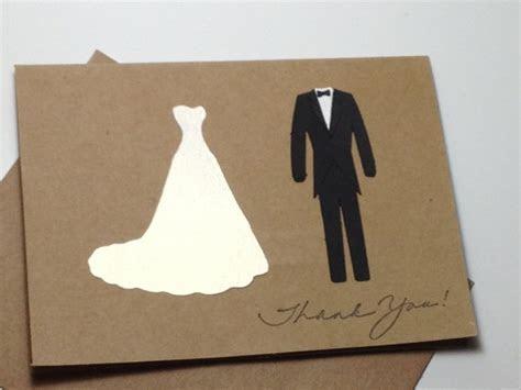Bride and Groom Thank you Note Card Set, Handmade Wedding