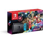 Nintendo Switch With Neon Blue And Neon Red Joyacon Hac-001 W/ Mario Kart 8 Deluxe