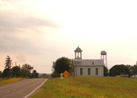 An old country church at sunset in Shenandoah