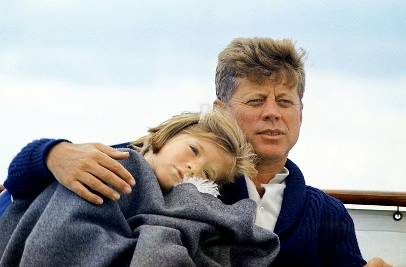 File:JFK with Caroline on the Honey Fitz, 1963.jpg
