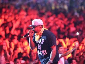 Racionais MC's se apresenta no Planeta Atlântida pela primeira vez (Foto: Jefferson Bernardes/Divulgação)