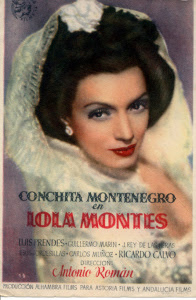Cartel de la última película de Conchita, 'Lola Montes'. / Foto: estrellasdelcineespanol.blogspot.com.es