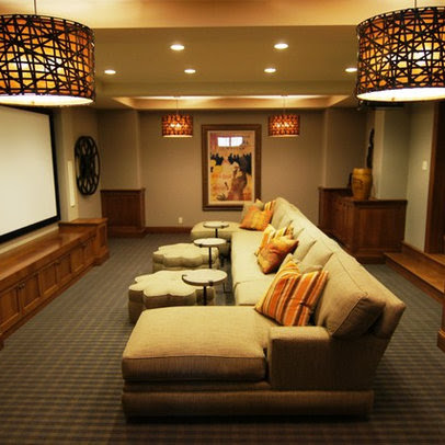 Media Room sofa table Design Ideas, Pictures, Remodel and Decor