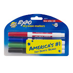 Expo - Marker - for glass, whiteboard - assorted colors - fine - pack of 4