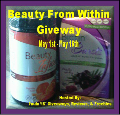Enter to #Win the Beauty From Within #Giveaway before it ends 5/16