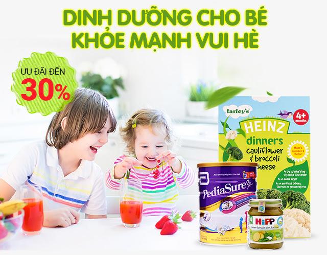 Dinh dưỡng cho bé khỏe mạnh vui hè - Giảm đến 30%