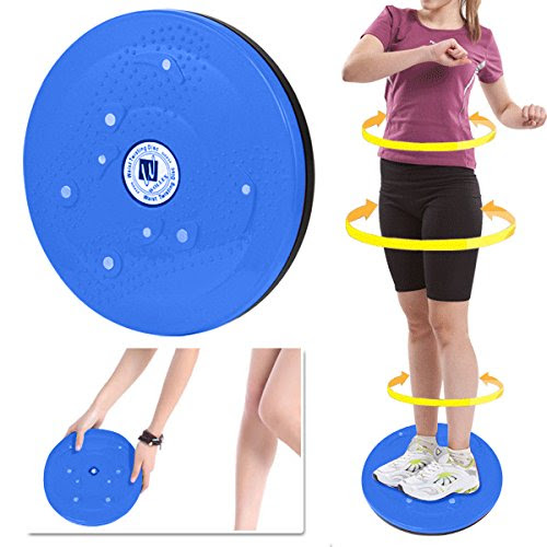 Outdoortips Twist Waist Torsion Disc Board for Aerobic Exercise Fitness Reflexology Magnets (Blue)