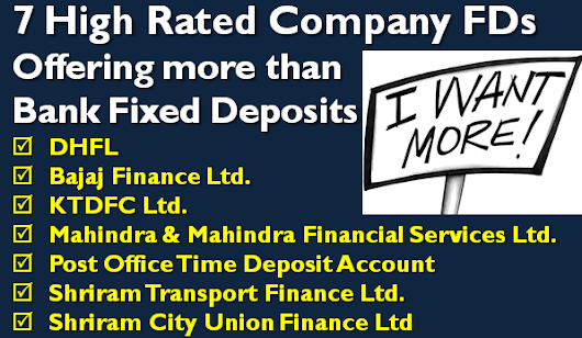 Company Fixed Deposit with High Credit rating - Feb 2017