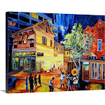 Frenchmen Street New Orleans | Canvas Wall Art | 40x30 | Great Big Canvas