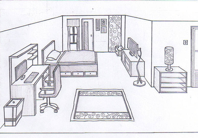 Drawing Of A Bedroom The Expert