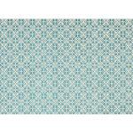 Ruggable Washable Rug - Floral Tiles Aqua Blue 3' x 5'