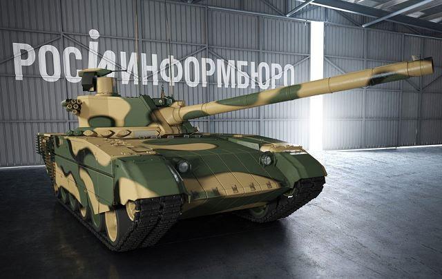 Rusia pondrá en marcha la producción de su nuevo tanque de batalla principal Armada en 2016, anunció Jueves, 21 de noviembre 2013, en Moscú, Vyacheslav Khalitov, subdirector general del grupo de investigación y producción de Uralvagonzavod en Nizhny Tagil.