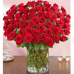 1-800-Flowers 100 Premium Long Stem Red Roses
