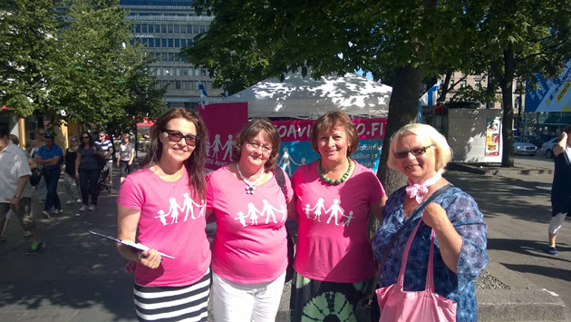 Finnish volunteers and traditional marriage activists worked hard throughout the summer to collect signatures