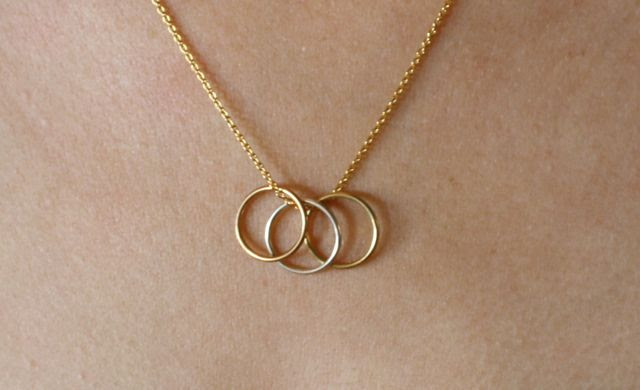 Wear wedding ring on necklace