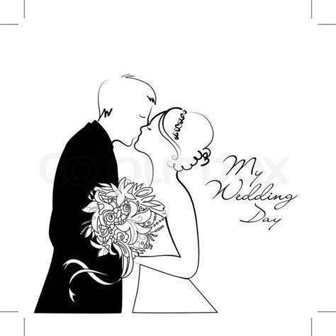 dessin couple mariage noir et blanc   Recherche Google
