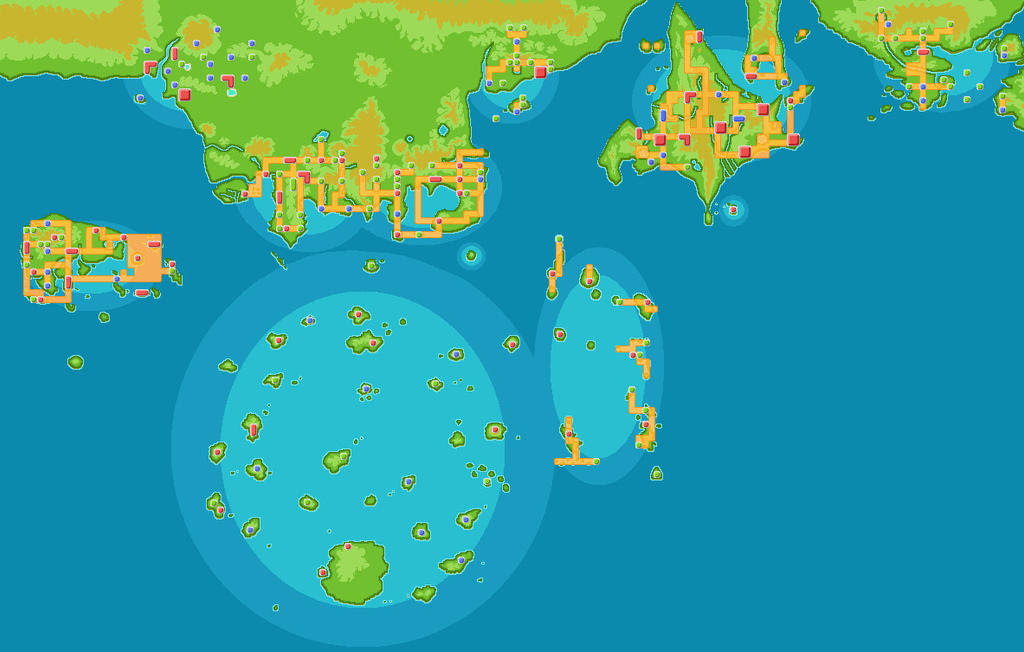 Pokemon maps favourites by twila101 on deviantart pokemon world map by moonlightentity on deviantart gumiabroncs Choice Image