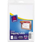 """Avery Shipping 05292 Shipping labels, 4"""" x 6"""", Bright White - 20 count"""
