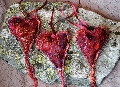 -1 tre hjerter by Marits Kunstquilt