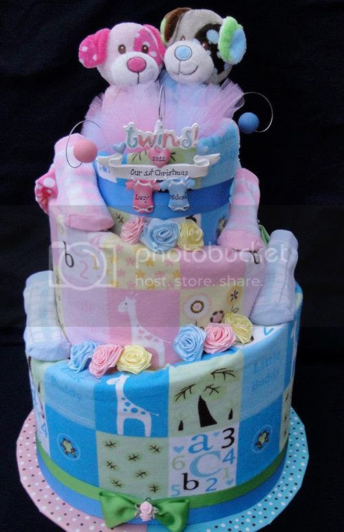 Twins Diaper Cakes