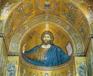 Cristo Pantocrator, mosaico, Duomo di Monreale