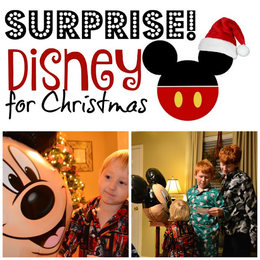 Wrapping up a Disney Trip Surprise for Christmas - Suitcases and Sippy Cups