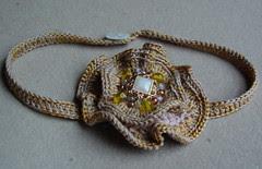 crocheted flower choker