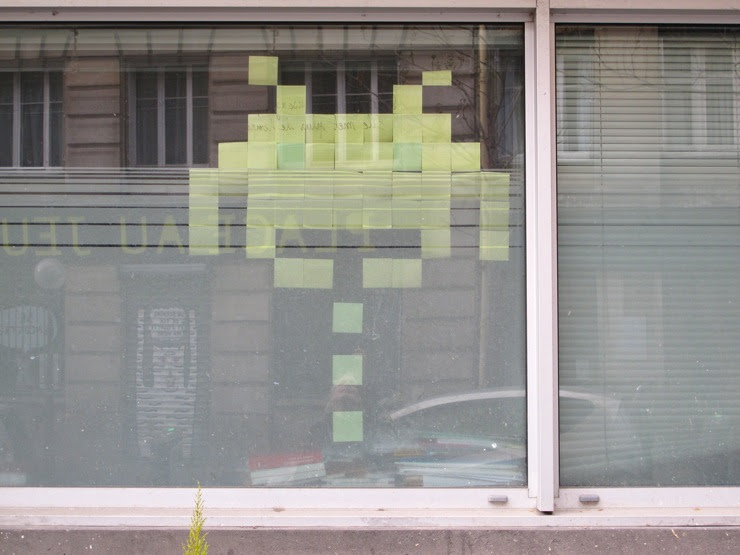 Post it ode to the Space Invader