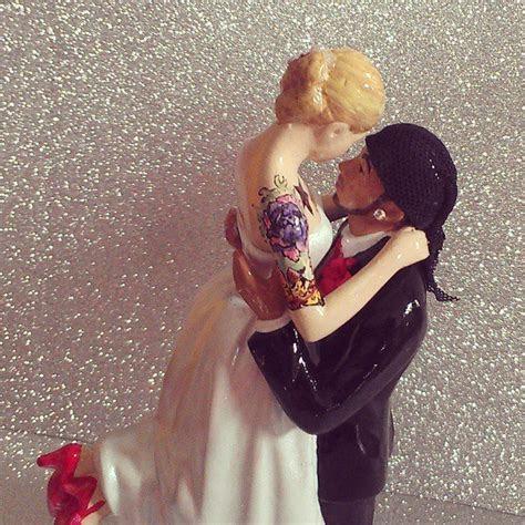 Custom Tattooed Wedding Cake Toppers by erin tinney