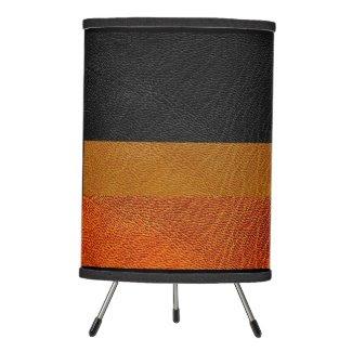 Modern Leather Look Stripe Tripod Lamp