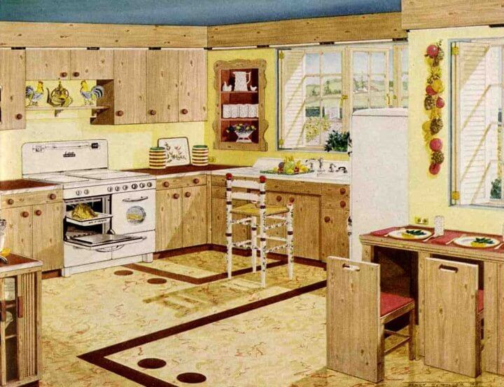 Knotty pine kitchens - a look that's due for a comeback ...