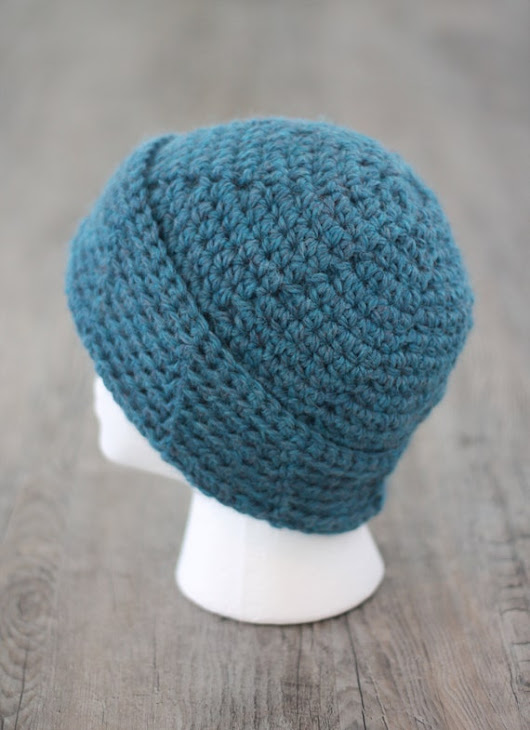 SALE Mens Beanie Hat Slouchy Beanie Blue by HeathersHomespun