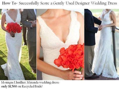 Rent designer wedding dresses, including Monique Lhuillier
