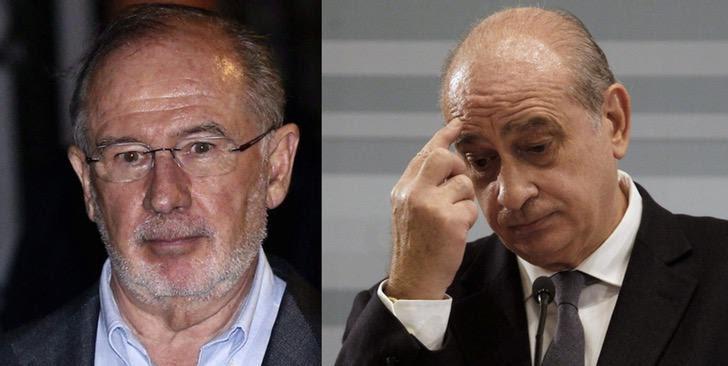 Rodrigo Rato (izqda.) y Jorge Fernández Díaz