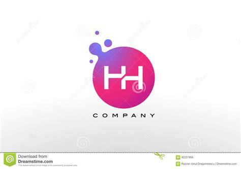 hh letter dots logo design  creative trendy bubbles