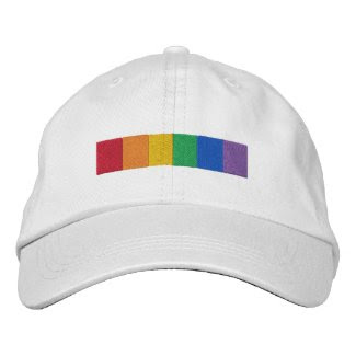 Gay Rainbow Pride Flag Strip Baseball Cap
