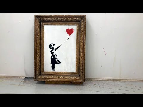 See How Banksy Trolled Everyone By Shredding The Girl And Balloon
