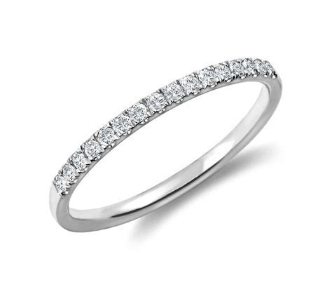 Petite Cathedral Pavé Diamond Ring in Platinum (1/6 ct. tw