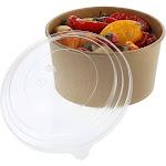 32 oz. Kraft Bowls with Lids, Case of 150