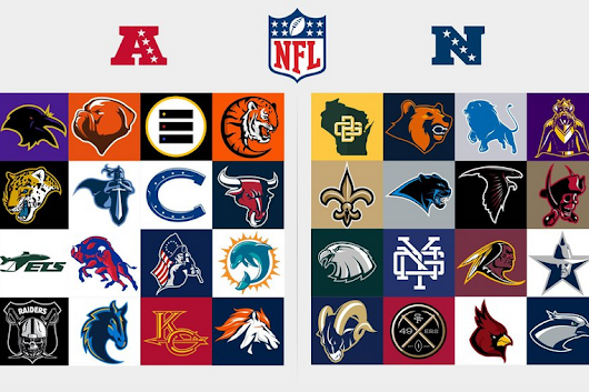 Redesigned Logos for NFL Teams