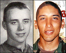 Pfc. Tucker, left, Pfc. Menchaca, right