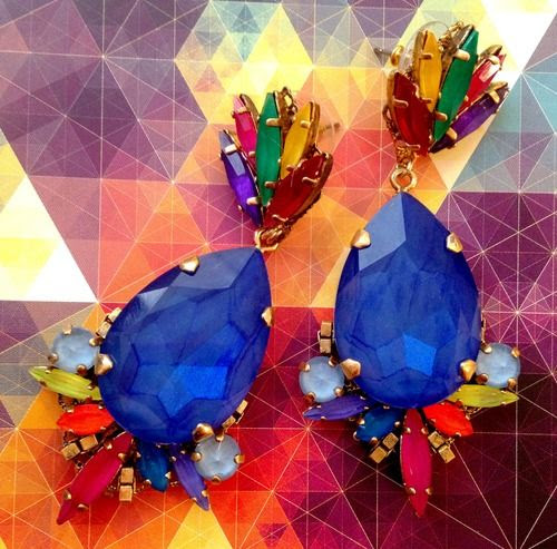 CHARM & CHAIN blog — Kaleidoscope Spotlight: Erickson Beamon's Prism Earrings