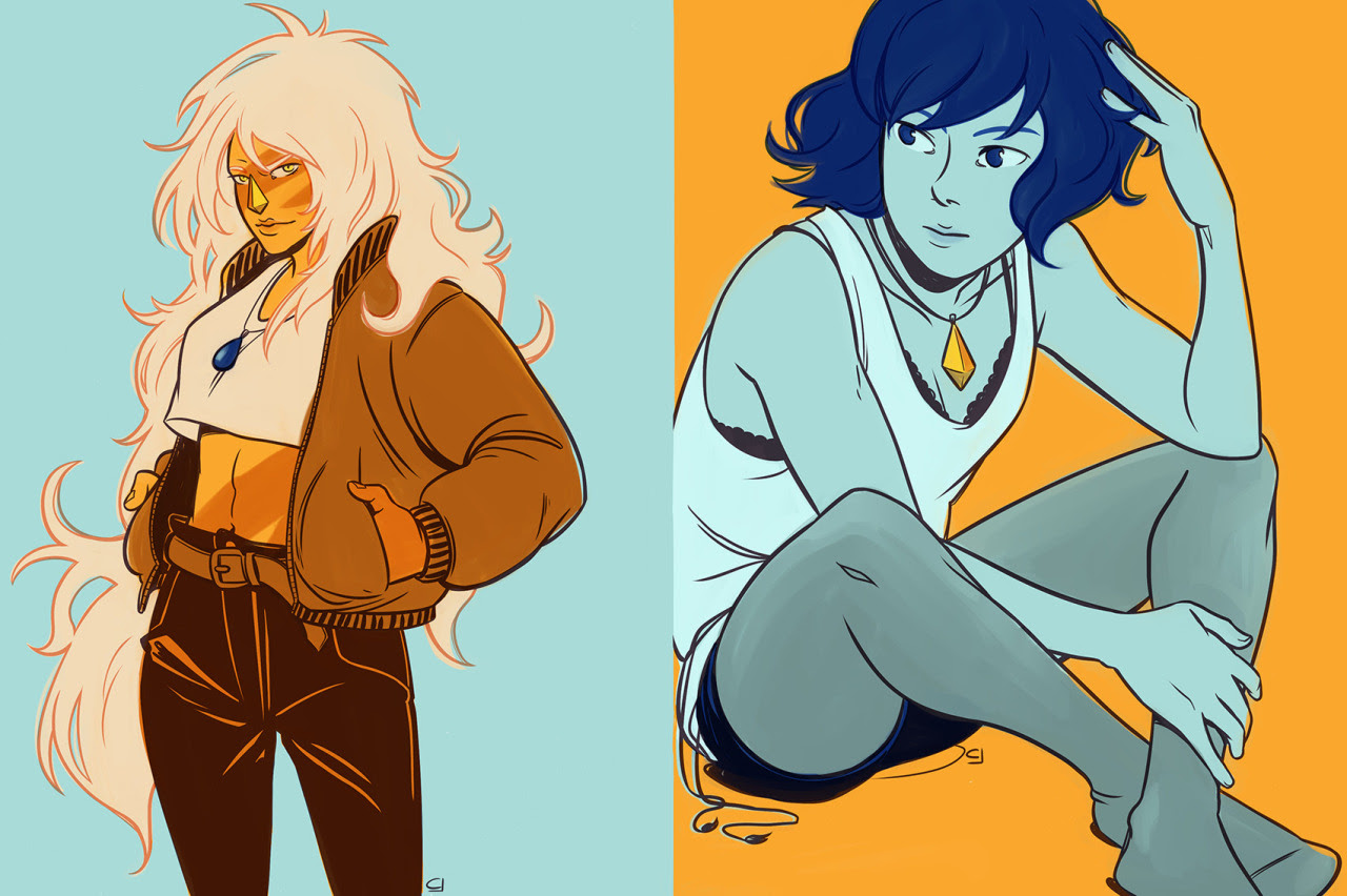Lapis and Jasper, I'm kind of obsessed with them lately.