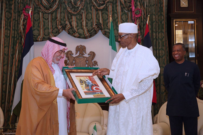 Buhari's Gift To Outgoing Ambassador Of Saudi Arabia To Nigeria. PICS