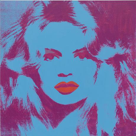 Andy Warhol's 1974 painting of Brigitte Bardot