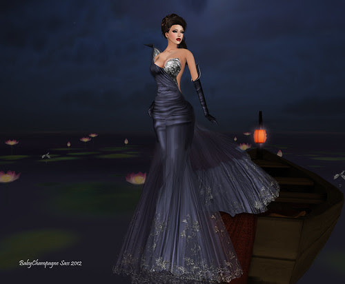 :: PM :: Falbala Gown in Midnight Blue - for ASHRAYA PROJECT by Babychampagne